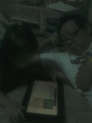 Teaching angkong to play plants vs zombies #fb