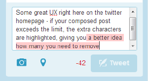 Some great UX right here on the twitter homepage: #fb