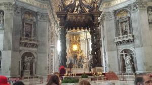 I think this was the main altar of the Basilica