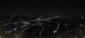 Panorama from the Eiffel Tower summit