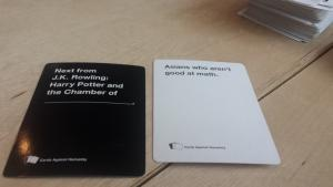 Surprise game of Cards Against Humanity (@CAH) during lunch Lizbeth Jane Garcia itag daw kita