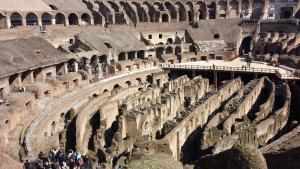 There's a mess of tunnels underneath what used to be the Colosseum floor - they raised up animals using trapdoor platforms from this level