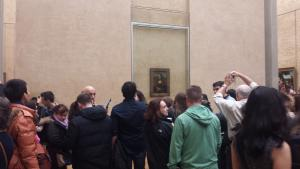 Apparently there's always a big crowd around the Mona Lisa. I honestly found it a bit underwhelming, given how famous it is.