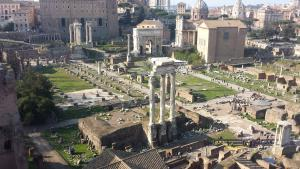 The view overlooking the Roman forum and nearby ruins