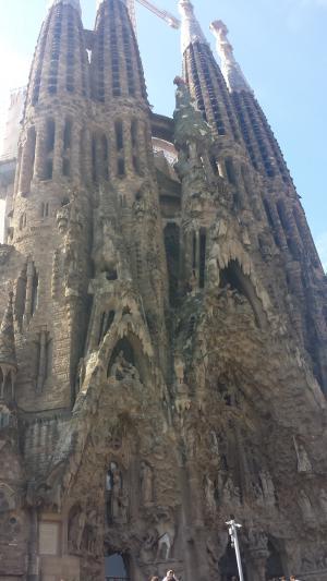 South facade of the Sagrada Familia -- it looks like some sort of Nativity scene