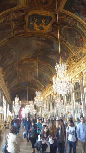 The famous Hall of Mirrors in the Chateau