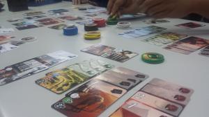 Impromptu Splendor game night! I won!