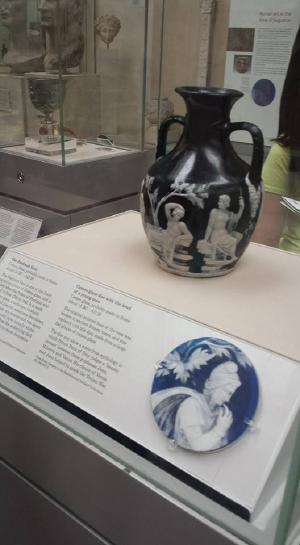 The Portland Vase. Made from cameo glass, apparently there's only around 40 samples of cameo glass from olden days (or at least the guide person said)