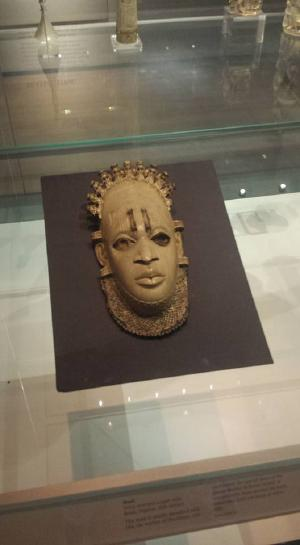 A pendant-mask made from ivory, from Africa. I find that I wasn't as interested in the African exhibits as compared to the European ones