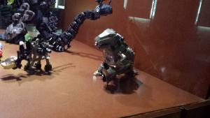 There was an actual Grimlock toy in the exhibit lol