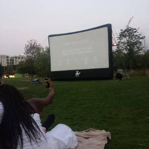I randomly stumbled upon some free open air cinema thing so now I guess I'm gonna watch Eternal Sunshine of the Spotless Mind