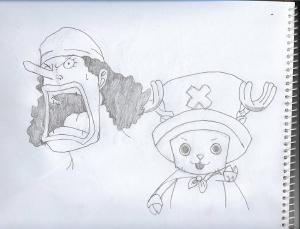Usopp and Chopper #sketchdaily #onepiece