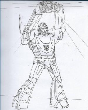 Light our darkest hour #sketchdaily #transformers Hot Rod from Transformers: The Movie (1986) I rewatched the Rodimus transformation scene after doing this. You got the touch!