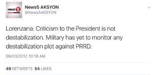 Buti pa yung defense secretary may saysay