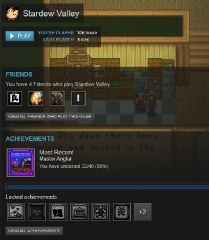 I might be done with Stardew Valley. Game was great, but getting the last few achievements would be too grindy for me