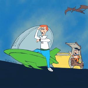 Back to the Future x Jetsons x Flintstones #sketchdaily #procreate