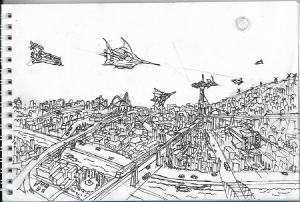 City sprawl #sketch #sketchdaily
