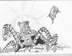 Breath of the Wild - Guardian #sketch #sketchdaily #zelda #botw