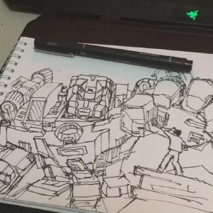 #Inktober day 10: Gigantic #sketchdaily #transformers