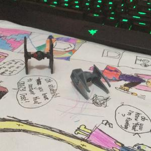 Star Wars things from the #popquizph prizes! (with bonus artwork from a 7yo)