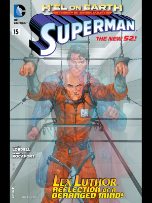 Superman (New 52) #15 cover art by Kenneth Rocafort