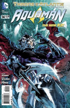 Aquaman #14 cover art by Joe Prado, Ivan Reis