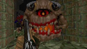 Mandatory screenshot of old-school Doom