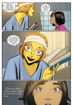 Saga #34 by Brian K Vaughn and Fiona Staples