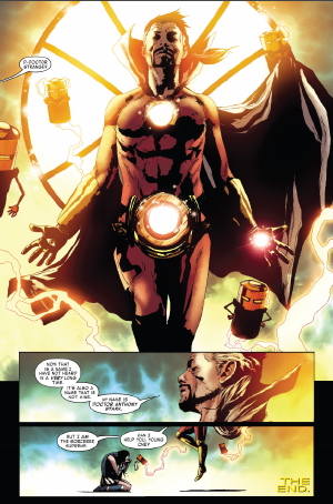 Invincible Iron Man #600 by Brian Michael Bendis and Andrea Sorrentino