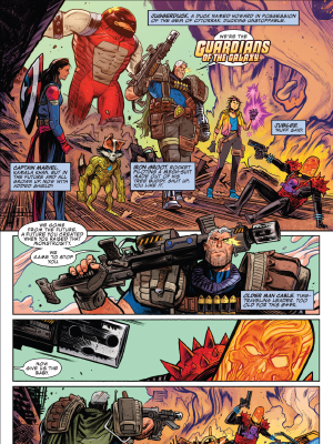 This Guardians iteration is the best. Cosmic Ghost Rider #3 by Donny Cates and Dylan Burnett.