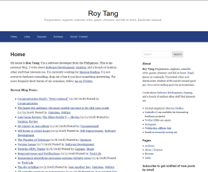 What the site theme looked like before the migration from Wordpress to Hugo