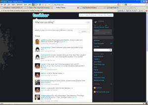 Found while digging through old files: Twitter circa 2009