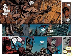Superman asks Batman to help mug a reporter (she had kryptonite). Action Comics #1003 by Brian Michael Bendis and Yannick Paquette