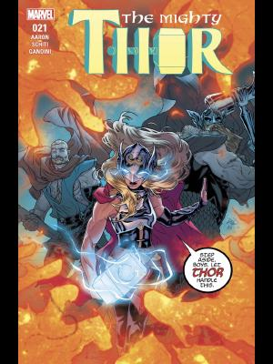 The Mighty Thor #21 cover by Russell Dauterman and Matthew Wilson