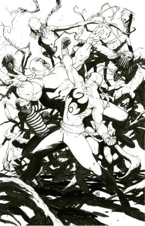 bear1na: Spider-Man and Gwen Stacy, Spider-Gwen, Iron Fist vs. Luke Cage, Scarlet Witch and Vision, Black Panther by Khoi Pham *