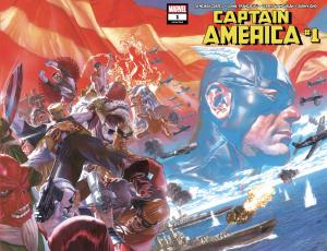 Captain America (2018) #1 cover by Alex Ross