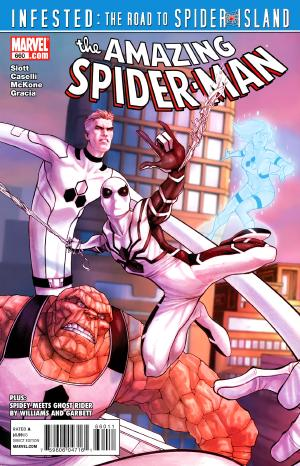 It's Spider-Man week on ireadcomicsbooks! Here's the cover to Amazing Spider-Man #660 by Stefano Caselli and Lorenzo de Felici, featuring the Future Foundation costume!