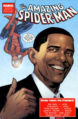 It's Spider-Man week on ireadcomicbooks! To cap off the week, here's Amazing Spider-Man #583 guest starring Barack Obama.