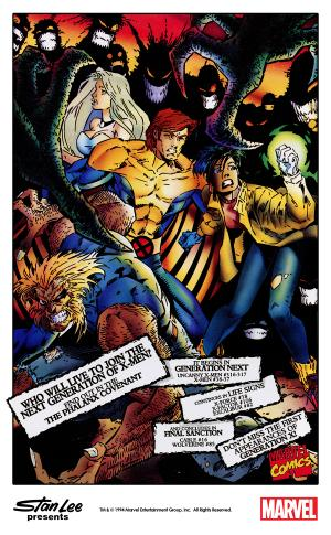 themarvelproject: Marvel house ad for The Phalanx Covenant with art by Joe Madureira, Terry Austin and Dennis Calero (1994).