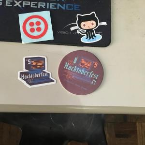 Passed by the post office today to pick up some parcels, turns out it was the #hacktoberfest swag I got for participating last October. Thanks Digital Ocean/Github/Microsoft!