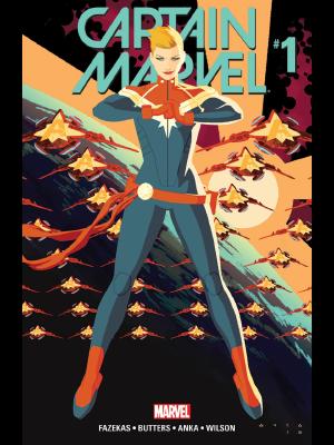 Captain Marvel (2016) #1 cover by Kris Anka