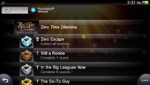 Posted on r/vita: With the Vita being officially discontinued lately, I thought I'd knock a few titles off the old backlog. First one is Zero Time Dilemma!