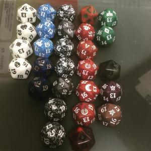 I have this sneaking suspicion that I might be favoring Rakdos too much #mtg #dice #rakdos