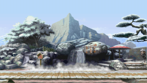 I often prefer having a randomly changing background wallpaper, even back in the day when Windows didn't support it natively and I had to install various plugins to support it. I like the variance! The one I've been using recently was this set of wallpapers based on Street Fighter stage backgrounds, which I got from a reddit thread that I unfortunately can't find anymore (I'll update this post if I find it later).