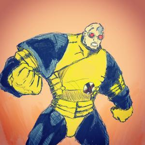 Guido. I was originally gonna draw Hulk, but I realized I could continue the X-Factor theme instead. #xmen #sketch #strongguy