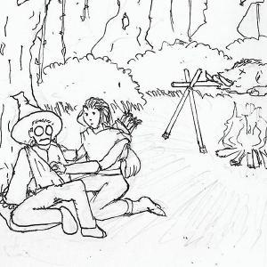 #inktober2019 day 19: sling #inktober #sketchdaily