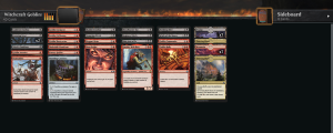 Thread of #mtg JumpStart results: Attempt 1: Milling Elves, 2-0. Attempt 2: Heavily Armored Enchanted (terrible choices - no way to get things off the board, Thriving lands are bad when monocolored, annoyed whenever I draw Gird for Battle), 2-4 Attempt 3: Feathered Friends + Basri. These white decks aren't good for my daily quests. Even less removal. 2-5. I think that's enough for today. Attempt 4: Plus One Dragons. 2-0.