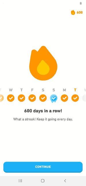 600! (With a streak freeze unfortunately lol)