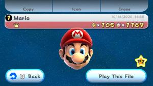 Finished Super Mario Galaxy with 105 stars. Apparently last 15 only available postgame #SuperMario3DAllStars #NintendoSwitch