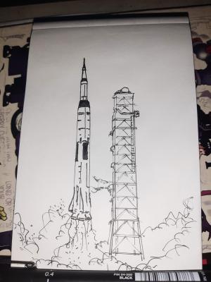 Inktober 2020 Day 16: Rocket